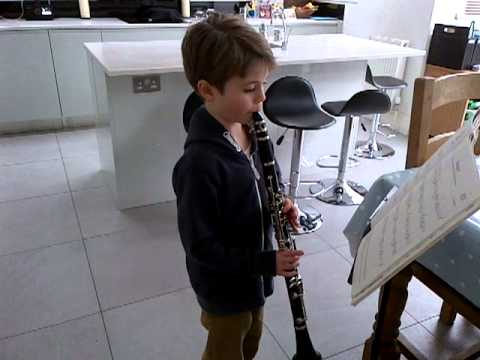 Henry 7 Years Plays Clarinet - Jumpin' By James Rae