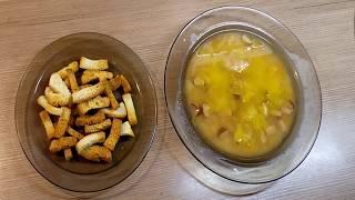 Очень вкусный гороховый суп с охотничьими колбасками