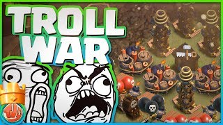 TROLL WAR!! 150 WALLBREAKERS EN MEER!! - Clash of Clans