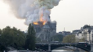 Incendie en cours à la cathédrale Notre-Dame de Paris
