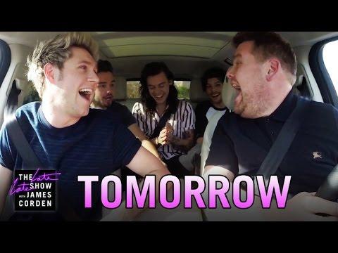One Direction Carpool Karaoke: Tomorrow