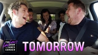 One Direction Carpool Karaoke: Tomorrow