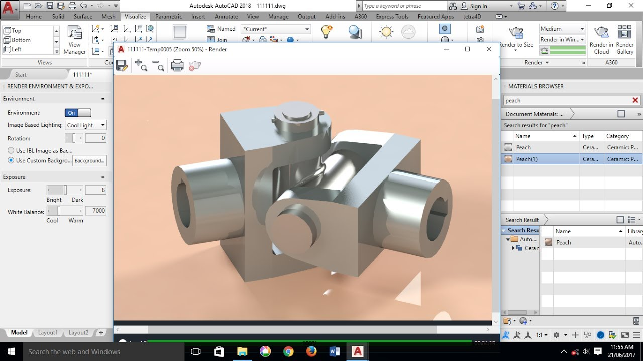 Autocad 3d Modeling Shaft Coupling Universal Coupling