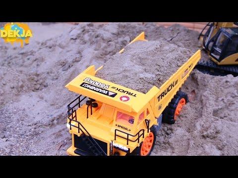 รถดั้ม รถแม็คโคร บังคับวิทยุแบบไร้สาย Toy Dump Truck & Excavator