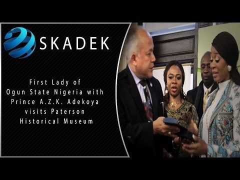 First Lady of Ogun State Nigeria with Prince A.Z.K. Adekoya visits Paterson Historical Museum