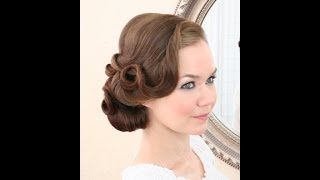 Bridal hairstyling video - vintage side do