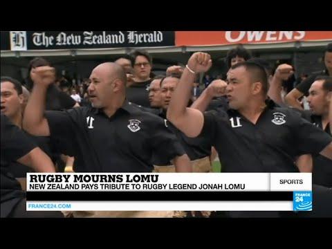 فرانس 24: New Zealand pays a last tribute to its rugby legend Jonah Lomu