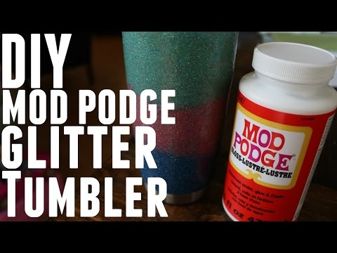 DIY - HOW TO MAKE GLITTER MOD PODGE YETI REC PRO OZARK TRAIL
