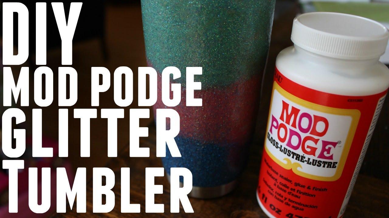 DIY - HOW TO MAKE GLITTER MOD PODGE YETI REC PRO OZARK TRAIL
