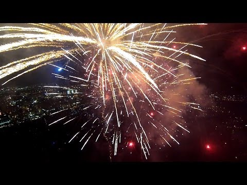 Silvester-Drone mit GoPro