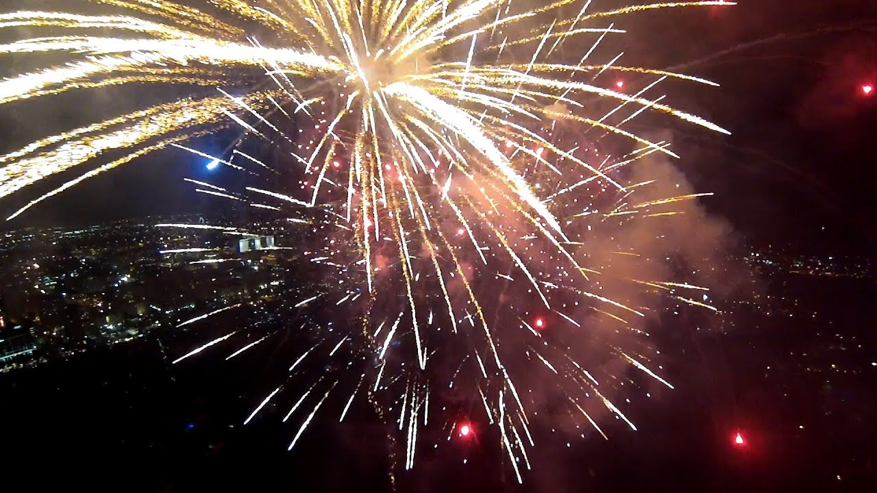 GoPro Fireworks From A Drone  YouTube
