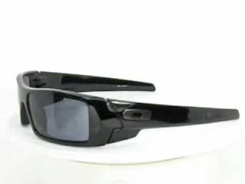 oakley gascan polarized sunglasses - polished black/grey