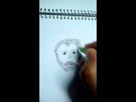 How to draw Greek Philosopher Thales