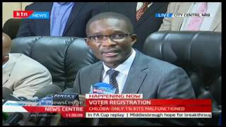 IEBC CEO gives a report on progress of mass voter registration in the country