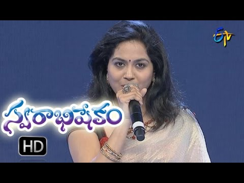 Aakulo Aakunai Song | Sunitha Performance | Swarabhishekam |  11th  September 2016|  ETV  Telugu