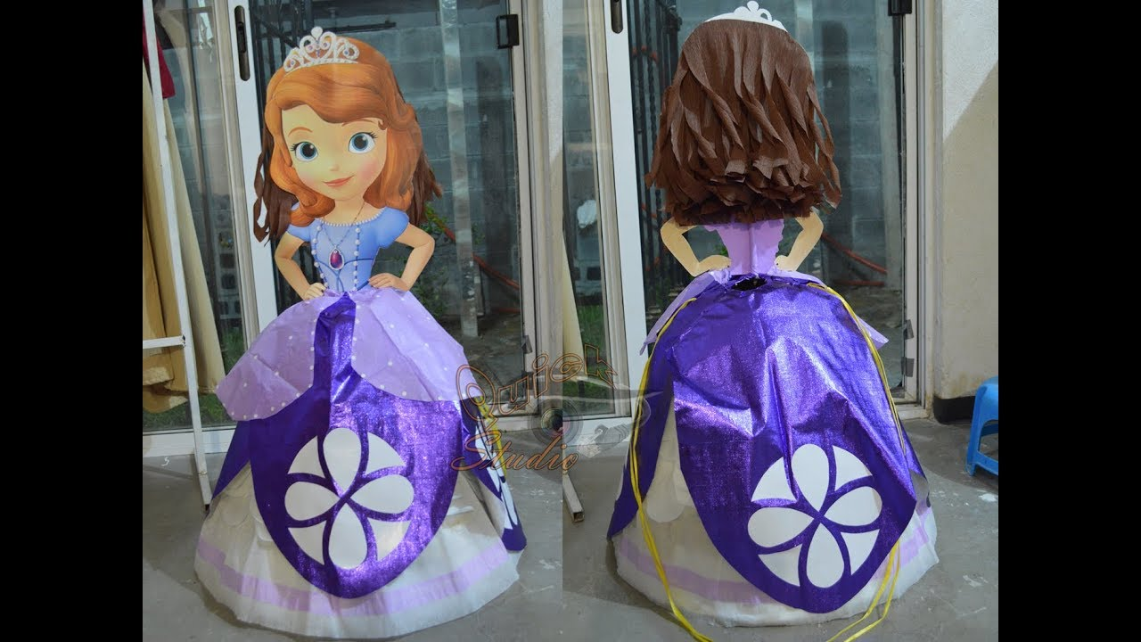 78a044e4a Piñata Princesa Sofía - YouTube