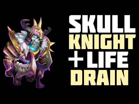 Castle Clash: Skull Knight 7/8 Lifedrain. Recking People!