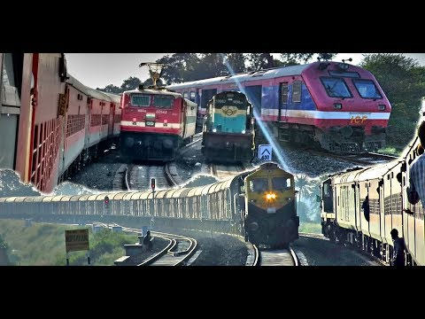 RATLAM - INDORE Train Journey : Single Line Diesel Section (Indian Railways)