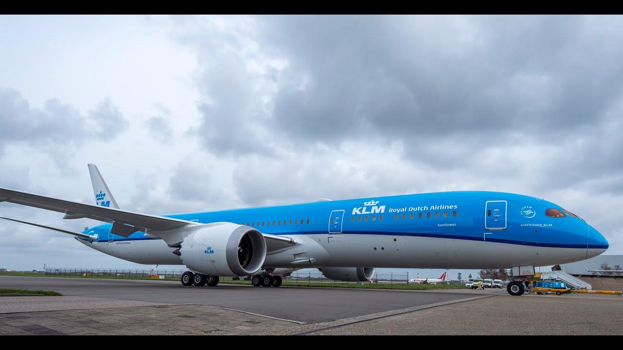 K L M Boeing 787 Dreamliner Vlucht Kl0706 Landing Schiphol