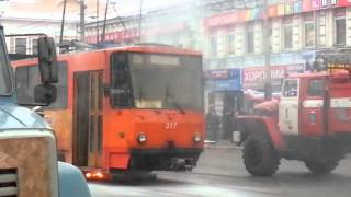 пожар в трамвае, Тула