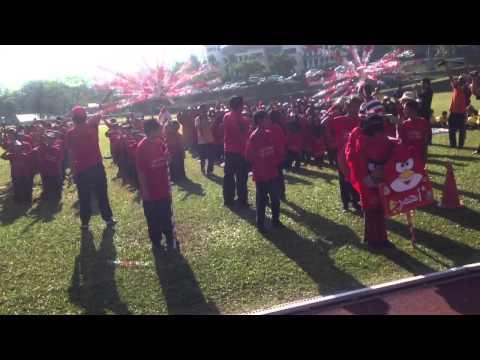 Sukan al-Amin Bangi -Lagu dan sorakan rumah Merah