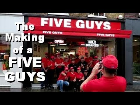 The Making Of A Five Guys Kings Road Chelsea London