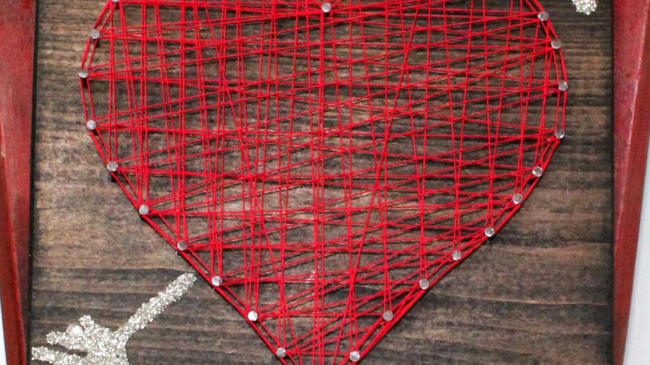 create heart and arrow string art diy home guidecentral youtube. Black Bedroom Furniture Sets. Home Design Ideas