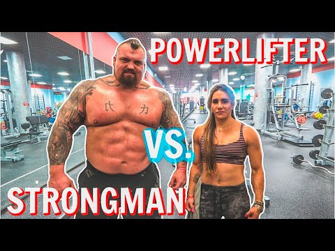 Strongman VS Powerlifter Ft Stefi Cohen