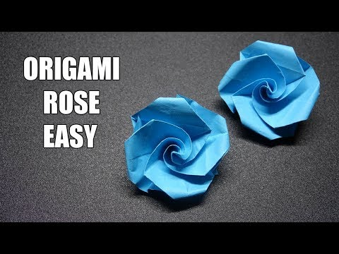 How to Make Paper Flower - Easy! Origami Flower Tutorial