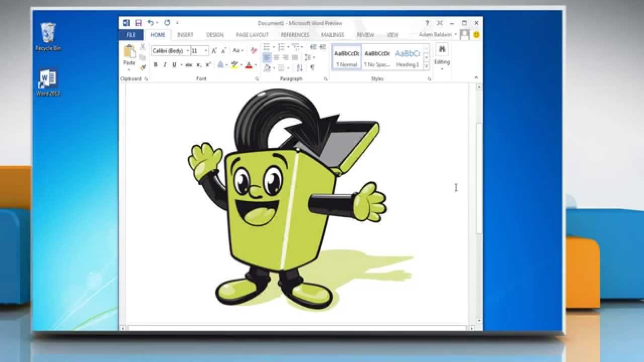 How to insert a clip art in microsoft word 2013 youtube for Dans word
