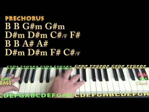 Say It (Flume) Piano Lesson Chord Chart