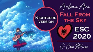 [Nightcore] Albania Eurovision 2020 | Ailena Ana - Fall From The Sky