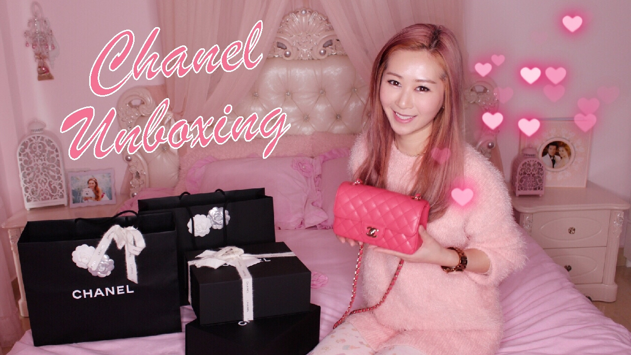 540967a60e84b6 CHANEL MINI FLAP BAG UNBOXING - PINK 👛 RECTANGULAR MINI 17C 2017 ...