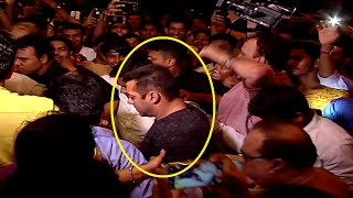 Salman Khan MOBBED by fans at BAAGHI movie Success Party.