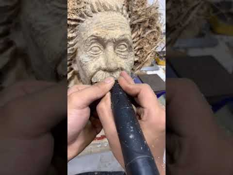 How was Einstein carved?   Wood Carving,Woodworking,Wood Carving art,root carving