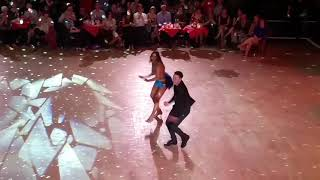 Kevin and Karen Clifton dancing the Salsa at the Gliderdrome Boston Lincs on 6 May 2017