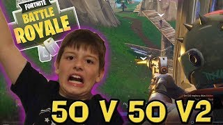 NEW Fortnite 50 v 50 v2 Mode Gameplay with Leland and his FANS!