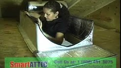 SmartATTIC- How to install  Attic  Stairs insulation Cover, Tent - www.insulationmarketplace.com