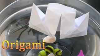 Как сделать из бумаги - Origami Кораблик