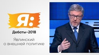 Дебаты 1 канал 28.02.2018. Тема: внешняя политика