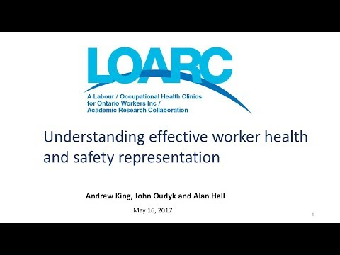 Understanding effective worker health and safety representation (May 16, 2017)