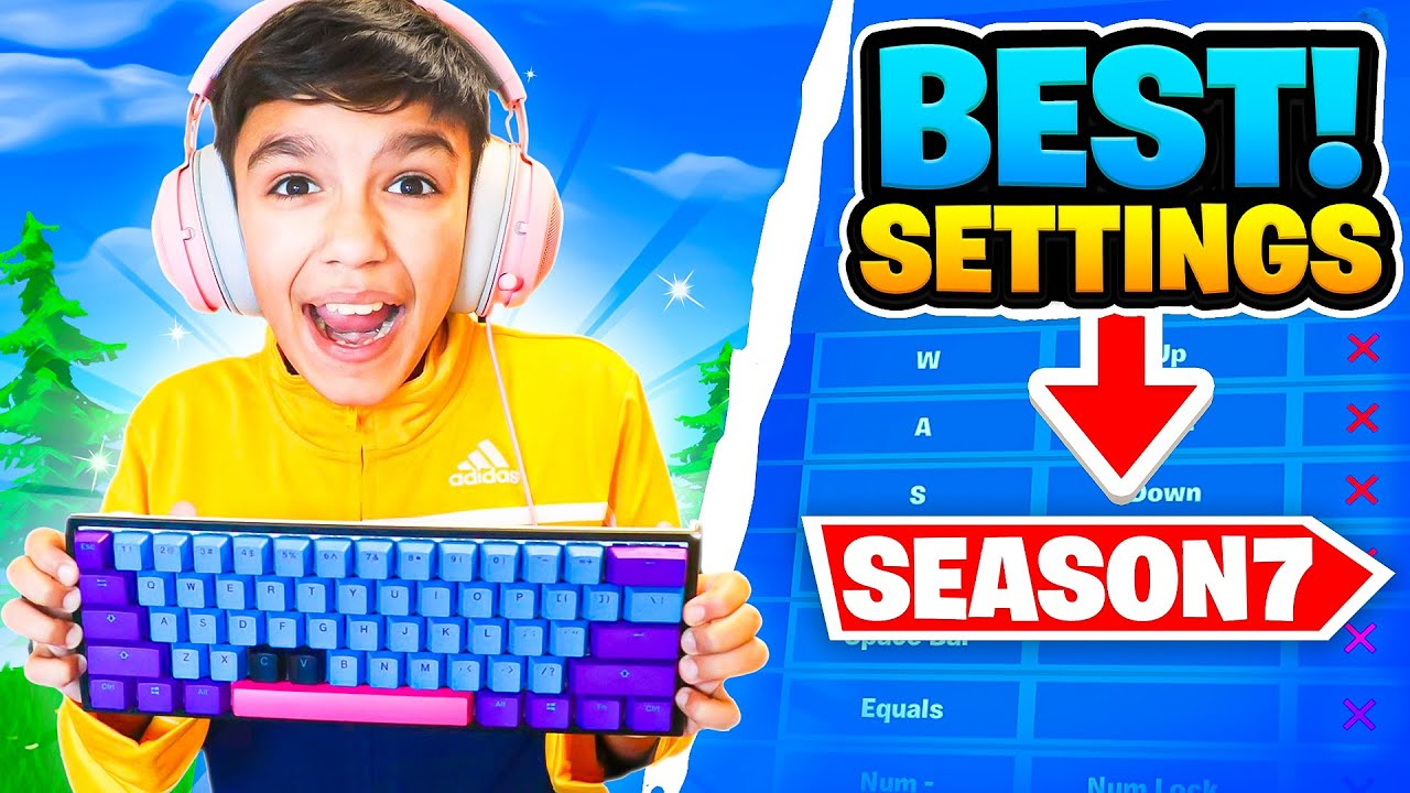 13 Year Old Reveals Best Pro Fortnite Settings And Keybinds For Season 7 Arena!