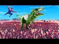 CAN 100,000 SPIDER-MANS DEFEAT 1 T-REX in Ultimate Epic Battle Simulator?