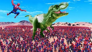 CAN 100,000 SPIDER-MANS DEFEAT 1 T-REX in Ultimate Epic Battle Simulator? Mp3