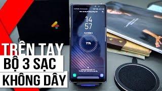 FPT Shop - Trên tay bộ ba Sạc Không Dây dành cho Galaxy Note8: Nhỏ gọn và tiện lợi