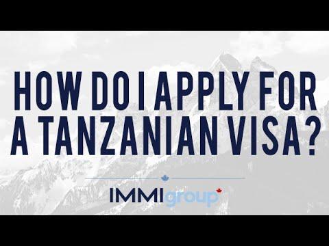 How do I apply for a Tanzanian visa?