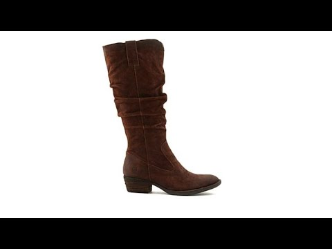 Born Barren Leather Tall Slouch Boot