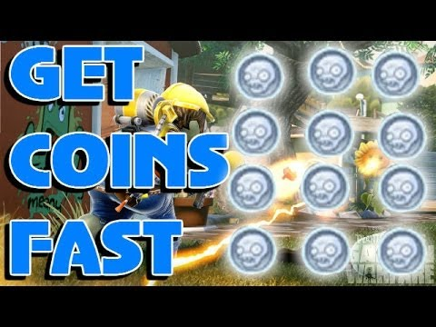 Gardens & Graveyards - How To Get Coins Easily & Quickly - PvZ Garden Warfare Tutorial / Tip / Trick