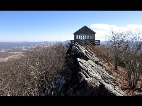 Hiking Allegheny Trail to Hanging Rock Raptor Observatory in Monroe County, West Virginia