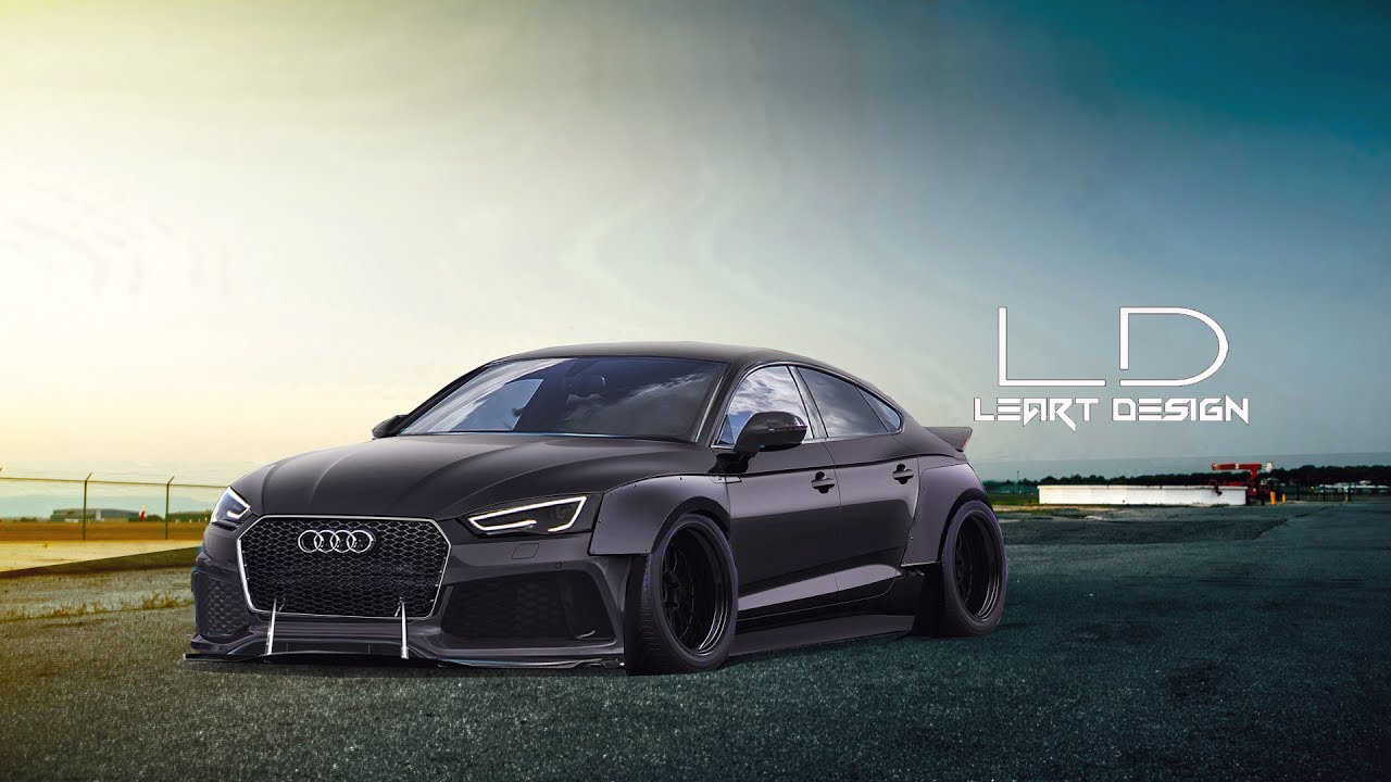virtual tuning audi a5 sportback photoshop - youtube